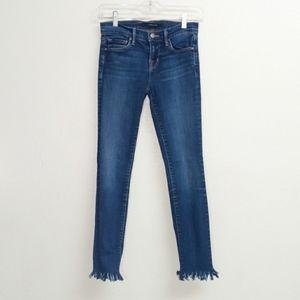 J Brand Skinny Jean with destroyed hem